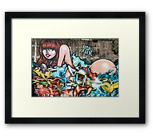 Plunged in Graffiti Framed Print