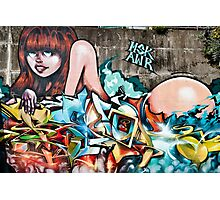 Plunged in Graffiti Photographic Print