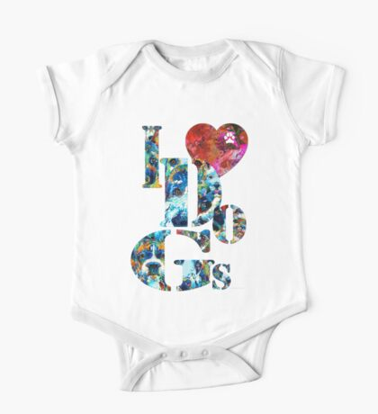 I Love Dogs by Sharon Cummings One Piece - Short Sleeve