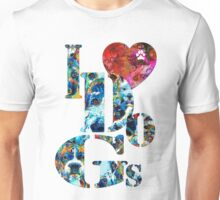 I Love Dogs by Sharon Cummings Unisex T-Shirt