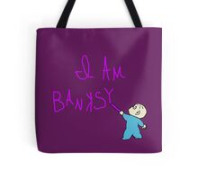 Banksy and the purple crayon Tote Bag