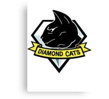 Diamond cats Canvas Print