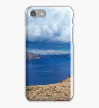 GRAY OVER BLUE iPhone Case/Skin