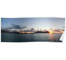 Sunset at Cid Harbor, Whitsunday Islands Poster