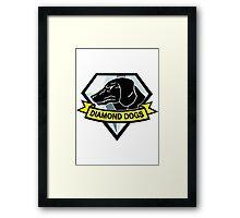 Diamond dogs (high resolution) Framed Print