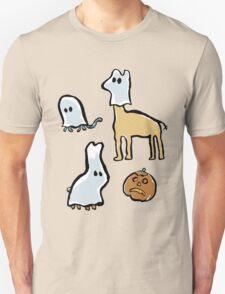 ghost animals and a pumpkin T-Shirt