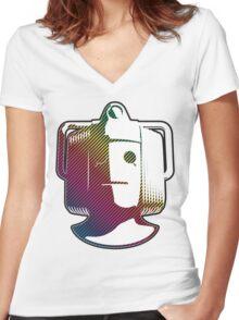 Cyberman - Rainbow Women's Fitted V-Neck T-Shirt