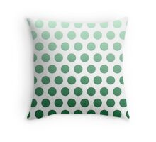 Green Ombre Polka Dots Throw Pillow