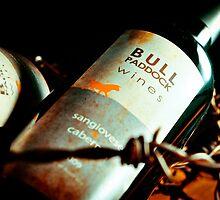 Bull Paddock Wines, Rutherglen - Bottle & Barbed Wire by Georgina James