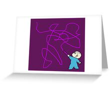 Harold and the purple crayon Greeting Card