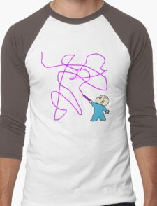 Harold and the purple crayon Men's Baseball ¾ T-Shirt
