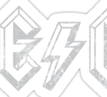 Megatrip ME-GA logo (dark shirt version) Sticker