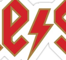 Megatrip ME-GA logo (red and gold variant) Sticker