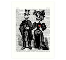 Calavera Couple Art Print