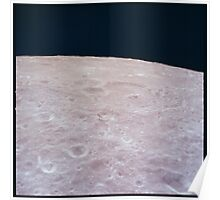 Apollo Archive 0020 Moon Surface from Orbit Poster