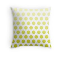 Chartreuse Ombre Polka Dots Throw Pillow