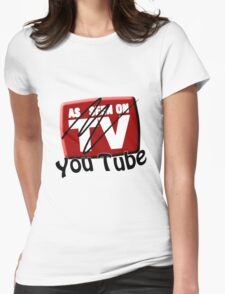 As Seen on... YouTube Womens Fitted T-Shirt