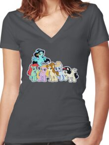 Ponified Princess Women's Fitted V-Neck T-Shirt