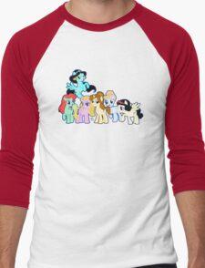 Ponified Princess Men's Baseball ¾ T-Shirt