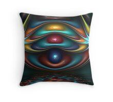 Spherical Gem Stars Throw Pillow