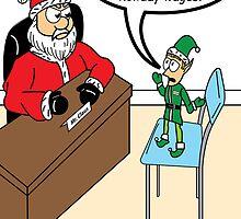 Santa works hard 3 by Robin Taylor