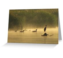 Heron in the Mist Greeting Card