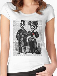 Calavera Couple Women's Fitted Scoop T-Shirt