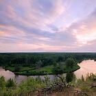 Au Sable Sunset by Neil Weaver