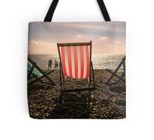 Evening walk on the beach Tote Bag
