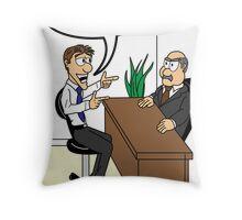 New Job 3 Throw Pillow