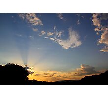 Sunset over  Newdigate village Photographic Print