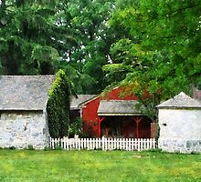 Red Farm Shed by Susan Savad