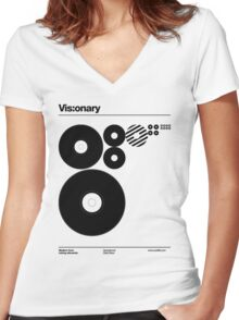 Vis:onary b Women's Fitted V-Neck T-Shirt
