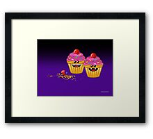CUPCAKE CANNIBALS ART Framed Print
