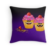 CUPCAKE CANNIBALS ART Throw Pillow