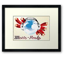 Music-Party Poster Framed Print