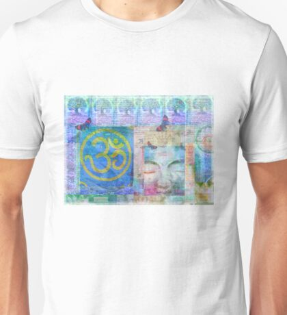 Om  Buddha tree nature art Unisex T-Shirt