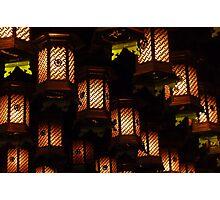 Henjokutsu Cave lamps, Japan Photographic Print