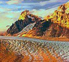 Denali ice field by Bruce Taylor