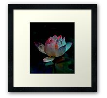 Lotus In Blue - Digital Art Framed Print