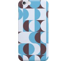 Winter colored 60ies retro circles iPhone Case/Skin