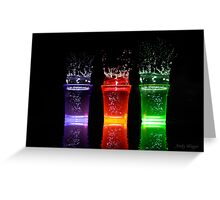 Splash shots Greeting Card