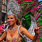 Dancing The Samba - Nottinghill Carnival by Victoria limerick