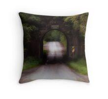 Drive on Through Throw Pillow