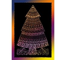 Christmas Tree Coloured Drawing Photographic Print
