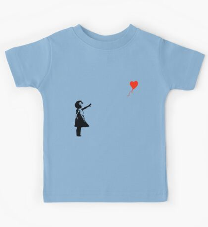 Banksy - Little girl with red balloon Kids Tee