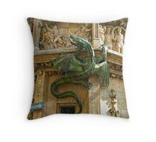 Neues Rathaus - Dragon Throw Pillow