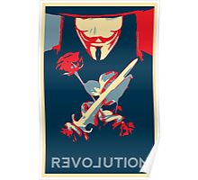 Guy Fawks Revolution/Love hope poster  Poster