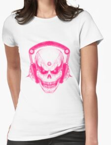 DubSkull Pink Womens Fitted T-Shirt