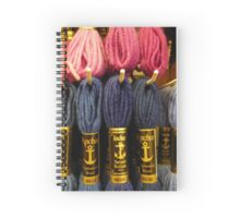 Wonderful pink and blue tapestry wool Spiral Notebook